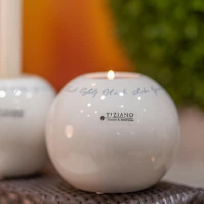 Teelicht Dolomiti mit Decal