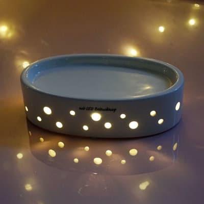 Base Lugo oval LED weiß-creme