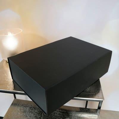 Geschenkbox Magnetbox groß 33x22x10 schwarz