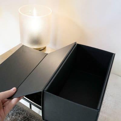 Geschenkbox Magnetbox klein 22x11x10 schwarz