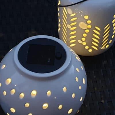 Licht Mentone Solar weiß-creme