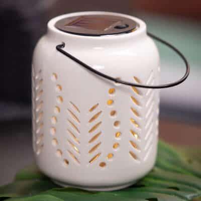 2er Set Licht Mentone Solar weiß-creme 16cm und 21cm
