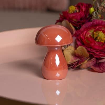 Dekoobjekt Pilz Miro peach pink