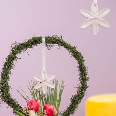 Hänger Blume Sarafina weiß-creme