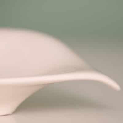 Schale Torlona hoch creme - weiß
