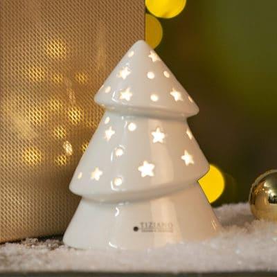 Dekoobjekt Weihnachtbaum Venta LED creme - weiß