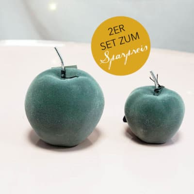 2er Set Apfel Astoria grau velvet 6,5cm+9cm
