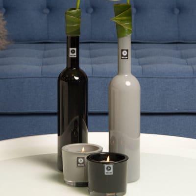 Flasche Flaskan solid-grau