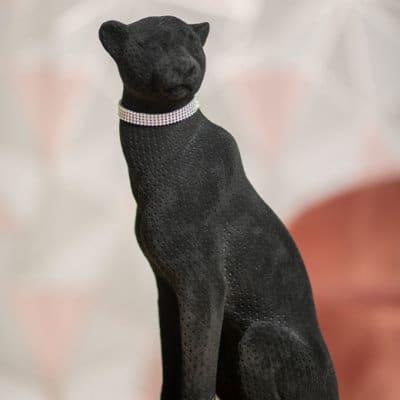 Dekofigur Panther Ovid schwarz