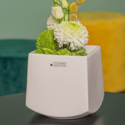 Blumentopf Scala weiß-creme