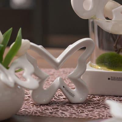 Deko Schmetterling Alva creme-weiß