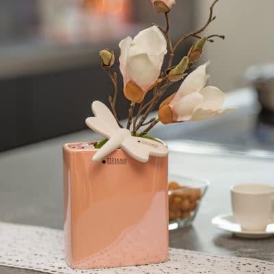 Pflanzgefäß flach Crosia 12cm rosa