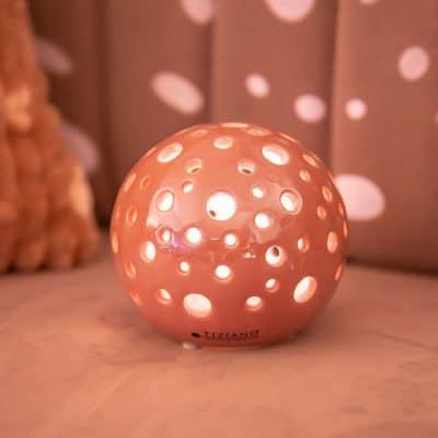 Lichtkugel Padova LED rosa