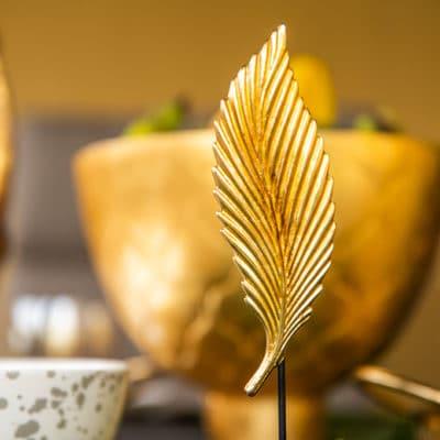 Dekoblatt Petal auf Fuß hoch gold