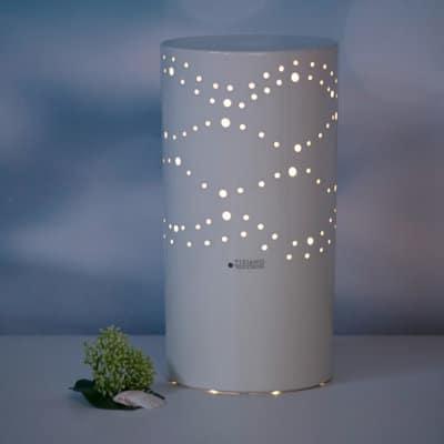 Lampe Lichtsäule Separio weiß-creme