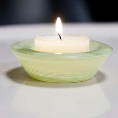 2er Set Glas Trixy 8 cm grün