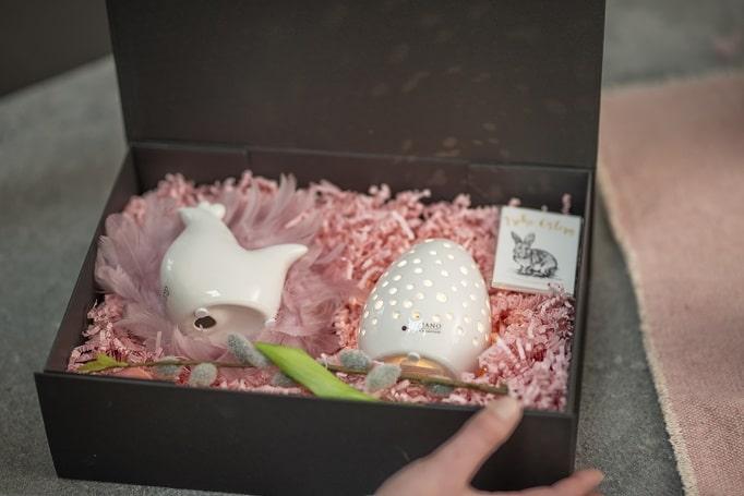 Ostergeschenke Magnetbox mit Huhn und Ei LED