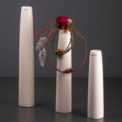 Vase Limena weiß creme