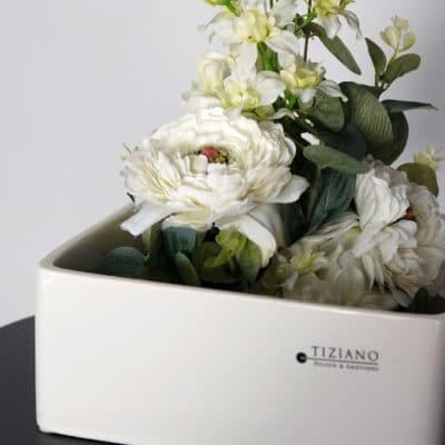 Deko Schale Tanaro 21 cm weiß-creme