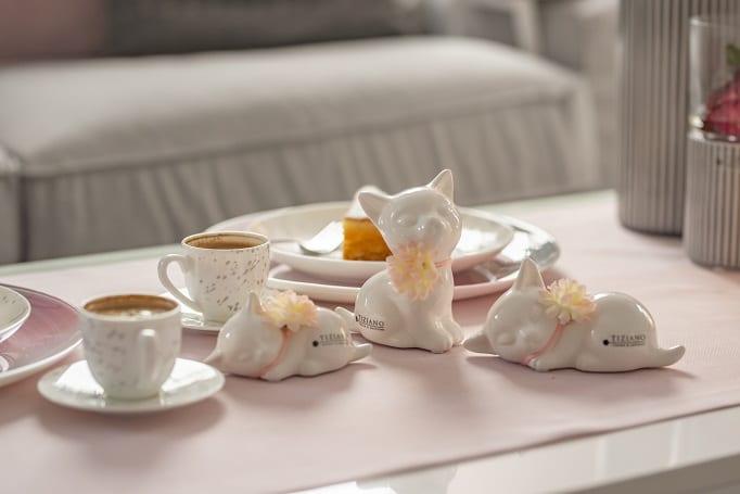 Tischdeko zum Muttertag mit Katzen