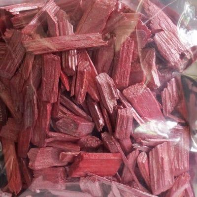Deko Holzflakes 30-50mm im Alu Flachbeutel (600ml) pink