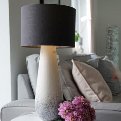 Lampe Milanari 58cm splash grau / weiß-creme