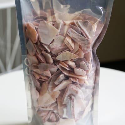 Deko Muschelgranualt grob rosa-Alu Stehbeutel (330ml)