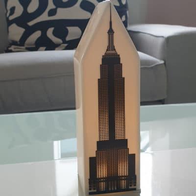 Dekohaus Licht Haus New York LED Empire State Building Porzellan