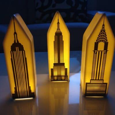 3er Set Lichthaus New York LED