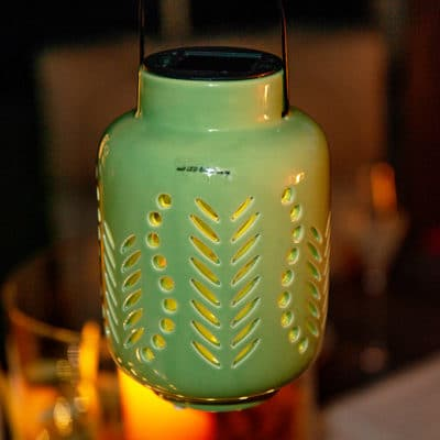 Licht Mentone Solar grün