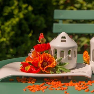 Dekoset Schale Torlona flach mit Haus Sipari