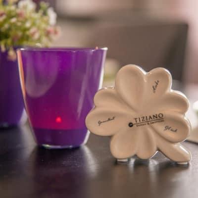 Glasblumentopf Jala 8cm solid lila
