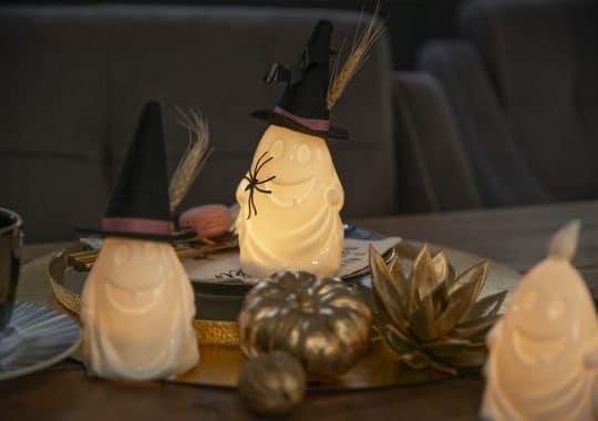 Halloween Kuerbis Deko gold