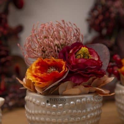 Dekoset Schale Enna mit Herbstdeko