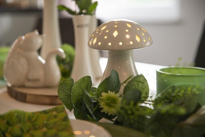 Tischdeko Herbst Nerone Pilz