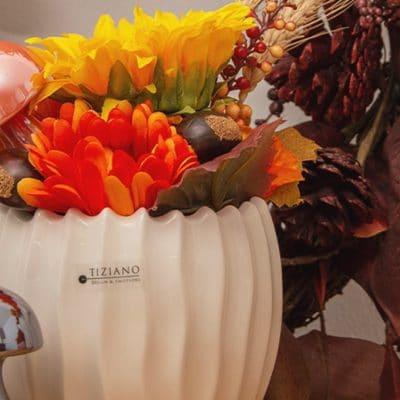 Blumentopf Cavita creme - weiß
