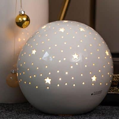 Lampe Padova mit Sternen weiß-creme