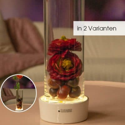 Windlicht Vase Castello LED herbstlich dekoriert