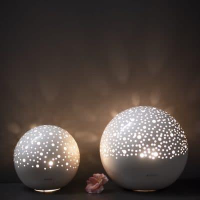Lampe Padova Kugel 26-36 cm creme