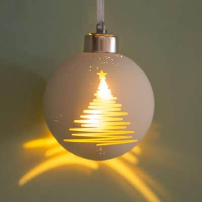 Vorverkauf: Deko Kugel Savo LED Natalino 8cm